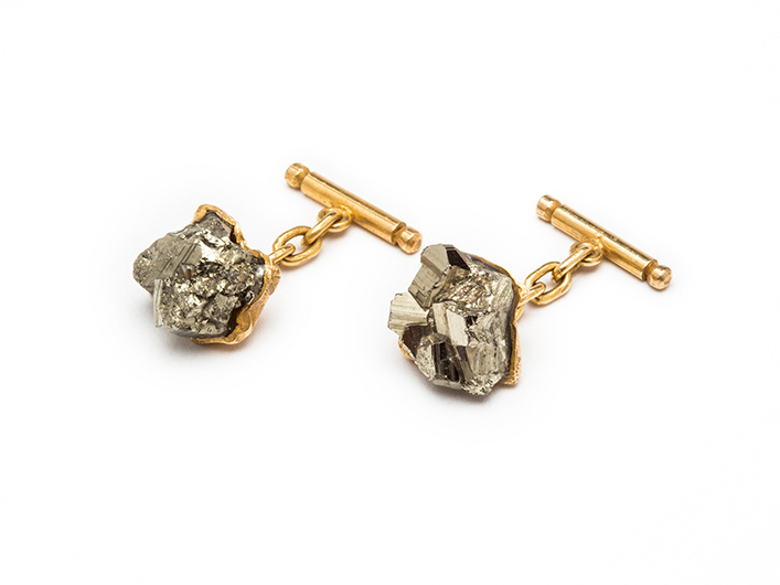 Fool's Gold Unisex Cufflinks